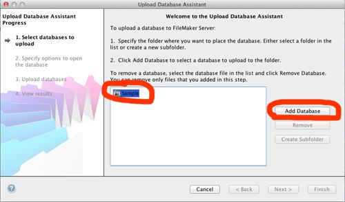 FileMaker Admin Upload