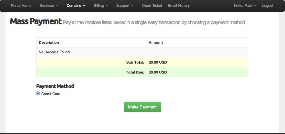 Mass payment align=