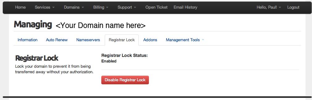 Registrar lock screen