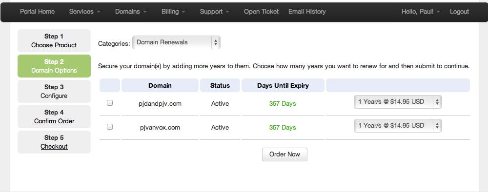 Renew your domain